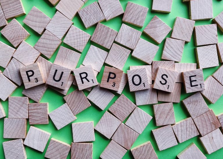 Scrabble words that form the word Purpose